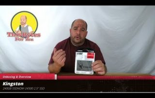 Unboxing & Overview of the Kingston SSDNOW UV500 240GB 2.5″ SSD