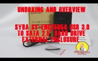 Unboxing of the Syba IOCrest SY-ENC25054 USB 3.0 USB 3.0 to SATA 2.5″ Hard Drive External Enclosure