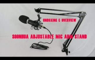 Unboxing & Overview of the SOONHUA Adjustable Mic Arm Stand for Professional