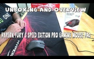 Unboxing & overview of the HyperX FURY S Speed Edition Pro Gaming Mouse Pad