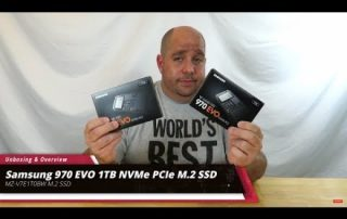 Unboxing & Overview of the Samsung EVO 970 NVMe M.2 SSD Boss Build