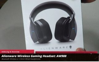 Unboxing & Overview of the Alienware Wireless 7.1 Gaming Headset: AW988