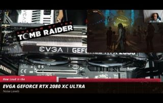 How loud is the EVGA Geforce RTX 2080 XC ULTRA Video Card playing Shadow of the Tomb Raider