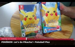 POKÉMON Let's Go Pikachu! Poké Ball Plus Pack Unboxing and Overview