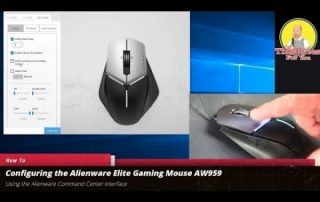 Alienware Elite Gaming mouse AW959 with the Alienware Command Center Interface