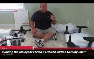 Assembling and using the Maingear Forma R Limited Edition Gaming Chair