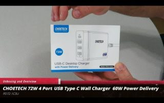 Unboxing and Overview of the Choetech 72W 4 Port USB Type C Wall Charger with 60W