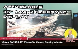 "Viotek GN35DR 35"" Ultrawide Curved Gaming Monitor Unboxing, overview and usage"