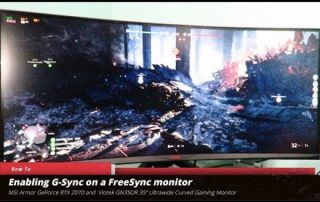 "G-Sync on the Viotek GN35DR 35"" FreeSync Ultrawide Curved Gaming Monitor 1 of 2"