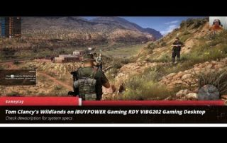 Tom Clancy's Wildlands gameplay on iBUYPOWER Gaming RDY VIBG202 Gaming Desktop
