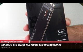 WD Black 1TB SN750 M.2 NVMe PCIe SSD Unboxing and overview