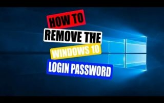 How to remove login password from Windows 10