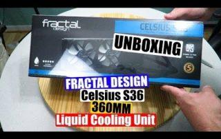Fractal Design Celsius S36 360mm Liquid Cooling Unit Unboxing and Overview