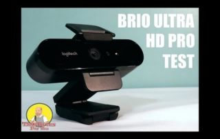 Using the Logitech BRIO ULTRA HD PRO WEBCAM