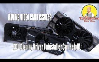 How to correctly uninstall your old video drivers