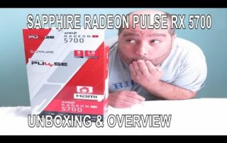 Unboxing the Sapphire Radeon PULSE RX 5700 8GB OC Backplate Edition
