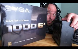 EVGA SuperNOVA 1000 G+ 80 Plus Gold 1000Watt Power Supply Unboxing And Install