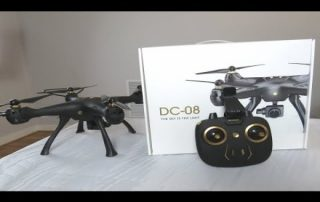 DROCON DC-08 5G WIFI FPV GPS Drone Unboxing build and flight