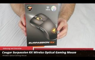 Cougar Surpassion RX Wireless Optical Gaming Mouse Unboxing and Overview