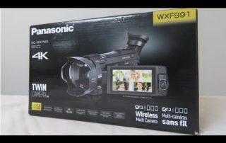 Panasonic HC WXF991 4K Video Camera Unboxing and overview